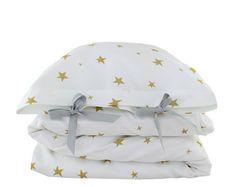 ORGANIC Toddler Bedding set  Stars  yellow by ColetteBream on Etsy, $139.00