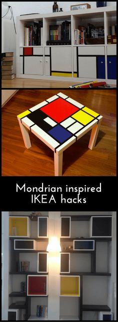 6 hacks that show how well MONDRIAN goes with IKEA http://www.ikeahackers.net/2017/10/6-hacks-show-well-mondrian-goes-ikea.html
