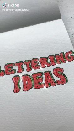 Bullet Journal Lettering Ideas, Bullet Journal Notebook, Bullet Journal School, Bullet Journal Ideas Pages, Bullet Journal Inspiration, Creative Lettering, Cool Lettering, Hand Lettering Alphabet, Fancy Letters