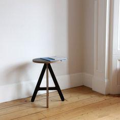 A Stool - Black - alt_image_three Modern Wood Furniture, Plywood Furniture, Beautiful Homes, Stool, Table, Shopping, Uk Shop, Black, Chairs