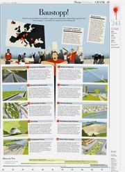 """DIE ZEIT - unul dintre cele mai prestigioase ziare germane - scrie despre marile proiecte inutile și impuse din Europa. Printre acestea proiectul de minerit cu cianuri la Roșia Montană. """"STOP! Peste tot în Europa banii din taxe curg în proiecte gigant. În mod regulat au fost organizate proteste de mare amploare împotriva lor. [...] ..Gabriel Resources Ltd, dorește să dezvolte o mină de suprafață în comuna Roșia Montană.. și pentru asta ar trebui să strămute forțat aproximativ 2000 de oameni."""