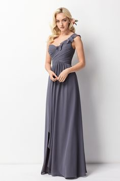 Wtoo Style 201 by Watters Bridesmaid Dress - Inna Chiffon Mob Dresses, Girls Dresses, Flower Girl Dresses, Formal Dresses, Wedding Dresses, Classic Bridesmaids Dresses, Bridesmaid Dress Styles, Wedding Bridesmaids, Bridal Gowns