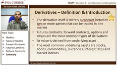 Definition of Derivatives and Different types of Derivatives  Learn more concepts related to FRM here.  https://www.apnacourse.com/course/frm