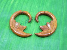 moon wooden fake gauges by Leginayba on Etsy, $6.99
