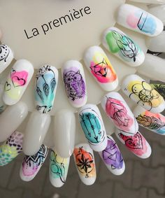 Nail art is a very popular trend these days and every woman you meet seems to have beautiful nails. It used to be that women would just go get a manicure or pedicure to get their nails trimmed and shaped with just a few coats of plain nail polish. Water Color Nails, Manicure E Pedicure, Toe Nail Designs, Nagel Gel, Cool Nail Art, Nail Art Set, Simple Nails, Trendy Nails, Love Nails