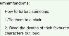 How to torture someone: