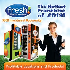 Bring Healthy Snacks to your community by becoming a Fresh Healthy Vending Franchisee!