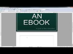 How to make a PDF eBook from scratch for free! .....Learn how to make a PDF eBook with LibreOffice Writer a free program for windows, linux, and mac computers.