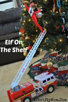 Elf On the Shelf Ideas ~ Over 200 Easy Ideas for your Christmas Elf - A Thrifty Mom - Recipes, Crafts, DIY and Girls Play Kitchen, Play Kitchen Food, Noel Christmas, Christmas Elf, Christmas Ideas, Christmas Crafts, Awesome Elf On The Shelf Ideas, Elf On The Shelf Ideas For Toddlers, Der Elf