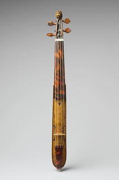 17th century German (Augsburg) Pochette at the Metropolitan Museum of Art, New York - The pochette was also called the dancing master's violin, because it was designed to be played by dance instructors as a quiet accompaniment for their pupils.