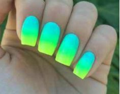 cool summer nail art designs 2016 - cool summer nail art designs new trends for the finger - Neon Nail Polish, Neon Nails, Cute Acrylic Nails, Diy Nails, Neon Green Nails, Neon Nail Art, Yellow Nail, Nail Art Designs 2016, Bright Nail Designs