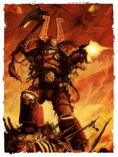 battle bolter chainaxe chaos khorne space_marines world_eaters