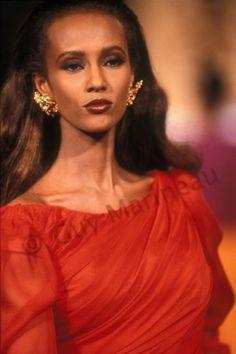 Iman Abdulmajid Bowie   Guy Marineau Photography Iman Model, Supermodel Iman, Black Supermodels, Original Supermodels, 80s Fashion, Fashion Models, Fashion Beauty, Ysl, Iman Bowie