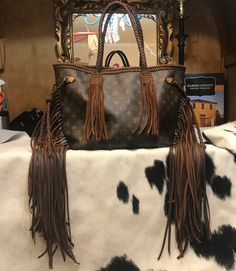 525a7f49fbb0 Fringed Revamped Louis Vuitton. The Neon Gypsy · Fringed Louis Vuitton Bags  ...
