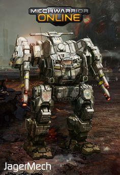 MechWarrior Online JagerMech concept. looks astonishingly like the rifleman...