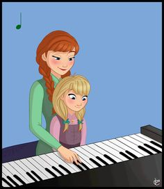 lissa-42:  In which Anna attempts to give piano lessons to her daughter and is unsuccessful.  This is so fucking adorable I just can't