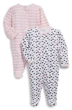 ROSIE POPE Graphic Cotton One-Piece (Set of Two) (Baby Girls) available at #Nordstrom