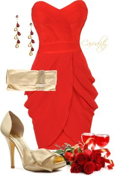 """""""Lady in Red"""" by casuality ❤ liked on Polyvore"""