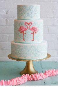 Flamingo Cake | by Erica OBrien for TheCakeBlog.com