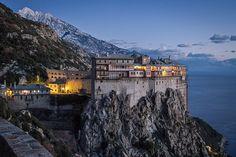Mount Athos, Greece The Holy Mountain The Holy Mountain, Rando, The Monks, Thessaloniki, Kirchen, World Heritage Sites, Places To Travel, Tourism, Beautiful Places