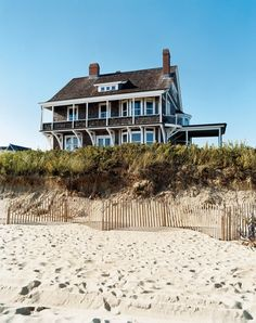 beach house at Shelter Island Heights, NY Coastal Homes, Coastal Living, Beach Homes, Villas, Resorts, Architecture Design, Dream Beach Houses, Shelter Island, House By The Sea