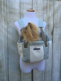 Dog Carrier  includes FREE matching Harness by HIPPYHOUNDDesigns on Etsy