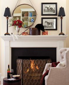 Mantel display mantel decorating ideas pinterest - How to decorate a mantel with a mirror above it ...