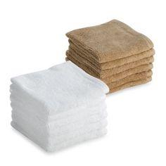 Tranquility Washcloths (Set of 6) - BedBathandBeyond.com
