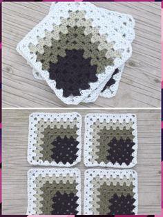 Diy Crafts - crochet,free-Pyramid Crochet Afghan Pattern Free Her Crochet Crochet Quilt Pattern, Crochet Blocks, Granny Square Crochet Pattern, Crochet Stitches Patterns, Crochet Squares, Crochet Motif, Free Crochet, Knitting Patterns, Afghan Patterns