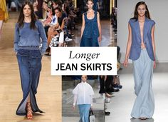 Right now, it's all about a pencil; but spring sees skirts with much longer, and in some cases fuller, silhouettes. At Stella McCartney, Kenzo, and Chloé, where designer Clare Waight-Keller showed a cargo-pocket floor-sweeper with a luxe sweatshirt and strappy, wrappy sandals (this may be our all-time favorite look of the season), ease was everything. -