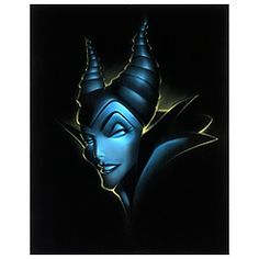 Limited Edition Vault 28 Villains Maleficent Giclée by Noah