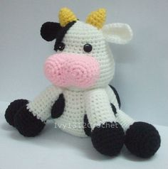 Milk Cow 787  Finished Amigurumi crochet doll
