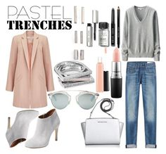 """Pastel Trenches"" by estefanifashion on Polyvore featuring Kendra Scott, Miss Selfridge, Uniqlo, rag & bone, Elorie, Michael Kors, Christian Dior, Bobbi Brown Cosmetics, MAC Cosmetics and women's clothing"