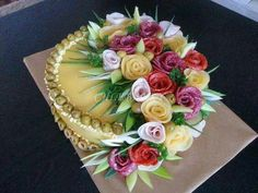 Sandwich Cake Sweet Home: Ilusad võileivatordid. Sandwich Torte, Salad Cake, Fruit And Vegetable Carving, Food Garnishes, Garnishing, Food Platters, Meat Trays, Food Displays, Tea Sandwiches