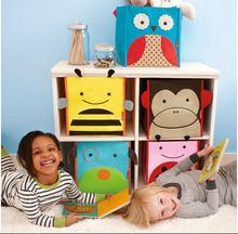 Children's Toys Storage Box Zoo Storage Bins Storage Bag Folding Canvas Owl Bee Dog Ladybug Monkey 5 Styles to Choose(China (Mainland))