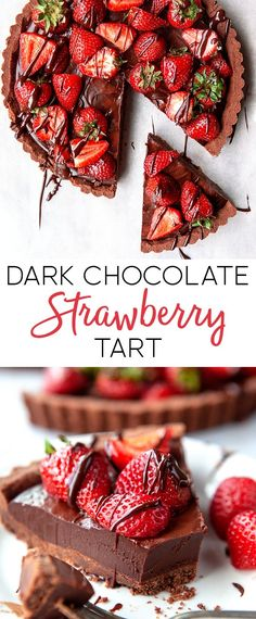 Dark Chocolate Strawberry Tart it looks and tastes divine and its so easy to make! The post Dark Chocolate Strawberry Tart appeared first on Dessert Factory. Chocolate Strawberry Desserts, Chocolate Strawberries, Strawberry Recipes, Strawberry Tarts, Strawberry Blonde, Semi Sweet Chocolate Chips, Chocolate Filling, Chocolate Log, Dark Chocolate Recipes