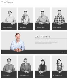 staff profiles Corporate Portrait, Business Portrait, Organizational Chart Design, Fashion Web Design, Company Profile Design, Page Layout Design, Powerpoint Design Templates, Team Page, Creative Senior Pictures