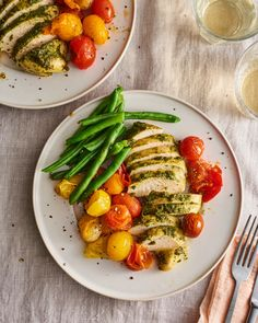 50+ Easy Keto Recipes - Keto Recipe for Beginners | Kitchn Chicken Pesto Recipes, Pesto Chicken, Baked Chicken, Weekend Meal Prep, Low Carb Recipes, Healthy Recipes, Protein Recipes, Healthy Foods, Bread Recipes
