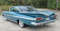 1959 Chevrolet Impala We had one in '59. Still looks like a jet! #chevroletimpala1959