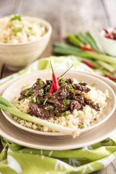 Mongolian Beef on Cauliflower Rice | 21 Low-Carb Dinners That Will Keep You Warm This Winter