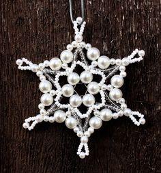 Vánoční hvězda - ledová  vločka
