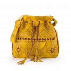 Re-inventing the Moroccan leather bag leather bag boho bag mustard yellow bag yellow bag embossed leather bag moroccan b. Leather Bags Handmade, Handmade Bags, Sheep Leather, Yellow Leather, My New Room, Handbag Accessories, Bohemian Accessories, Beautiful Bags, Mustard Yellow