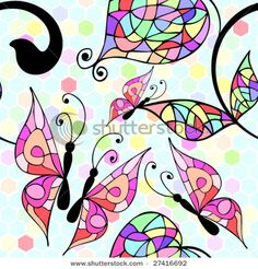 butterflies - for window painting