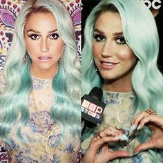 """""""I'm having my hair be a rainbow… I'm going through all the colours of the rainbow… I'm a rainbow… I've let colour into my life, it's very metaphorical."""" -Kesha Rose Sebert <GIF>"""