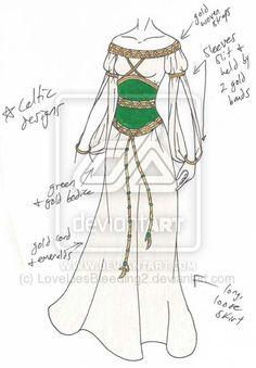 MISCcd___Irish_Eyes_by_LoveLiesBleeding2.jpg (400×575) good inspiration for archery outfit
