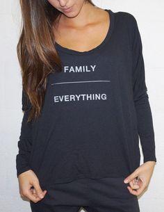 Good hYOUman Linda Tee - Family Over Everything