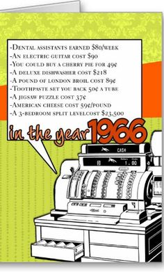 1960 - Fun facts birthday - cost of living card. Personalize any greeting card for no additional cost! Cards are shipped the Next Business Day. 50th Birthday Party, Birthday Cards, Happy Birthday, Birthday Ideas, Grandma Birthday, Vintage Birthday, Birthday Invitations, Anniversary Parties, 50th Anniversary