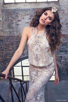 galia lahav spring 2016 bridal dresses halter neck ivory embroidered a line wedding dress savannah