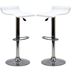 LexMod Two Gloria Bar Stools in White