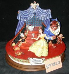 Disney Laurenz Capodimonte: Large Sized Limited Edition Beauty and the Beast  Beauty and the Beast by Enzo Arzenton  Size: 15 1/2 inches High by 19 inches Wide by 13 1/2 inches Deep  Edition Size: 87  Released: 1997